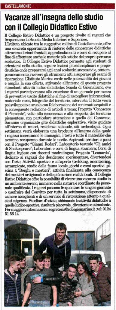 Collegio didattico estivo - Collegio Marino Castellamonte